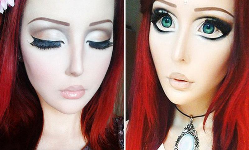 Как сделать макияж для куклы на 148